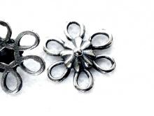 Коннектор декоративный цв. ант. серебро 11,5х3 мм.