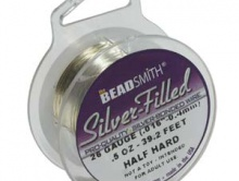 Проволока мягкая Silver-Filled dead soft  22 ga (0.65 мм.) катушка 15.6 футов. (4.75 м.).