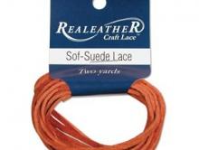 Замшевый шнур отличного качества, цвет темно-оранжевый