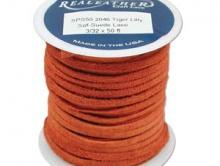 Замшевый шнур отличного качества, цвет оранжевый