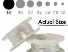 Проволока серебряная полужесткая Sterling Silver 18 g (1.02 мм.) Для авторских ювелирных работ, средней жесткости (half hard),