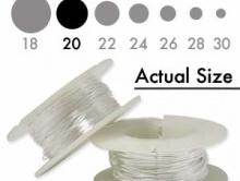 Серебряная мягкая проволока 0.81 мм. (18 ga.) Sterling Silver Dead Soft для ювелирных работ