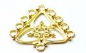 Подвеска-люстра из серебра 925 пробы ручной работы, это основа для изготовления серег, материал-серебро 925 пробы (92.5 %) с покрытием 24 kr золота