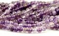 Нить круглых полированных бусин, камень-аметист натуральный. Цвет-фиолетовый неоднородный.