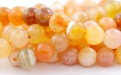 Агатовый шарик бусина 7 мм. за 15 шт (цвет персиковый)