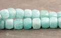 Бусина огранённая  кубик ограненный-камень амазонит натуральный, цвет-нежный бирюзово-голубой, размер кубика -7,5 (+-0,2) мм.