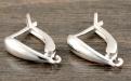 Швензы с английским замочком из серебра для изготовления серёг, выполняет  основу для красивой сережки.
