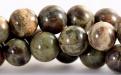 Бусины круглые гладкие, камень–яшма натуральная. Размер-10 мм. , цвет микс-приглушенные: зеленый, серый.