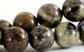 Бусины круглые гладкие, камень–яшма натуральная, цвет микс-приглушенные: зеленый, серо-коричневый, ближе к цвету какао, цвет микс-приглушенные: зеленый, серо-коричневый, ближе к цвету какао
