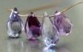 Бусина-тонкий бриолет оранённый, камень александрит ограненный Цвет-сиренево-розовый+зелёный в зависимости от освещения,