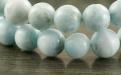Бусина-ларимар натуральный гладкий шар. Размер-8.4 +-0,1 мм. вн. отв. 1 мм. Цвет-голубой, теплый, напоминающий лазурные воды моря,