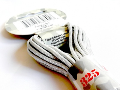 Паракорд, шнур PARA Cord 325 цвет- Gun Metal (серый, светло-стальной), толщина-3 мм., длина-6.4 метра (на 3 стандартных браслета),