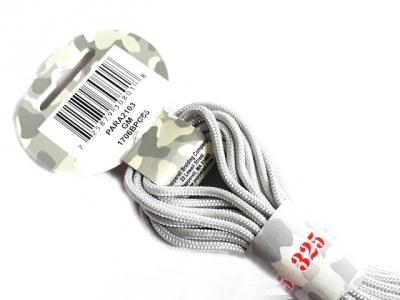 Паракорд, шнур PARA Cord 325 цвет- Gun Metal (серый, светло-стальной), толщина-3 мм., длина-6.4 метра