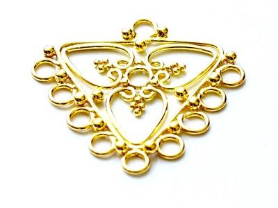 Подвеска-люстра из серебра 925 пробы ручной работы, это основа для изготовления серег, материал-серебро 925 пробы (92.5 %) с покрытием золота