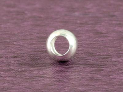 Бусина 6 мм. круглая из серебра Sterling Silver стерлинг сильвер (серебро 925 пробы), диаметр: 6 мм, внутренне отверстие 3.6 мм.