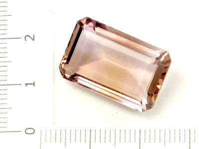 Аметрин вставка для перстня, кольца, кулона (примерно 18 карат)