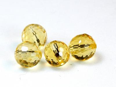 Аметрин огранённый, вставка в кулон или кольцо, цвет золотистый с небольшим сиреневым пятном