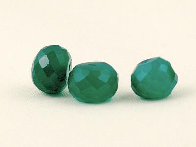 Камень– натуральный хризопраз, бусина рондель огранённая средняя, цвет-полупрозрачный зеленый, изумрудный.