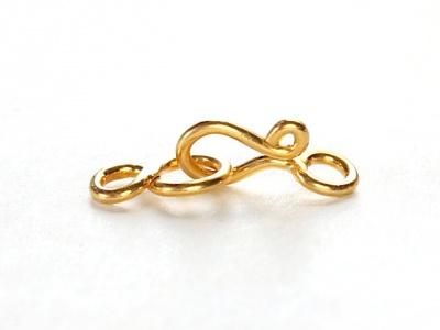 Замок-крючок маленький из серебра с покрытием золота 24 kr для изготовления украшений Handmade.