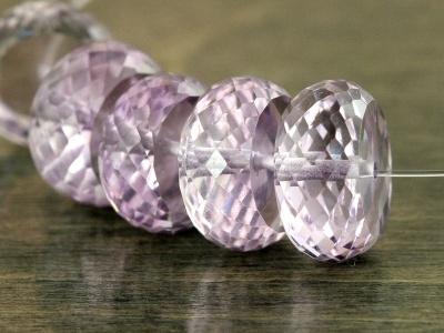 Класс премиум, бусина огранённая, камень натуральный-аметист чистый,