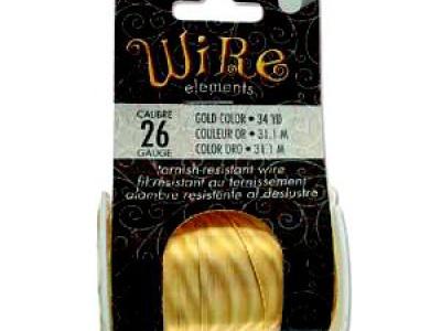 Проволока полужесткая Craft Wire Tarnish resistante для творческих работ. Проволока золотистого цвета отлакированная-нетускнеющая