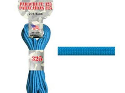 Паракорд, шнур Para Cord 325 Turquoise, цвет бирюзово-голубой, толщина 3 мм., длина 6,4 метра