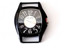 Кварцевые часы HARMI, цвет корпуса черный, цыферблат чёрный с серебристой отделкой, длина 51 мм. ширина 41 мм. Отличная возможность воплотить интересные идеи по созданию ремешка или браслета Handmade