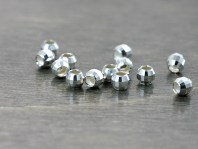 Бусина гранёная 2.2 мм. из серебра 925стерлинг сильвер-распорка граненая, размер-2.2х2.2 мм.