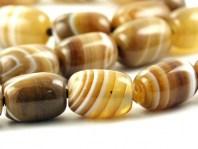 "Бусина гладкая форма ""бочонок"", камень-агат натуральный,гладкий,размер–14х10 мм.,"