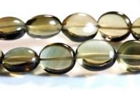 Раух топаз-полированная овальная бусина.Камень-раух топаз натуральный (семейство кварцевых).Цвет-коричневато-золотистый,