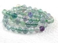 Нить бусин огранённых, форма-шарик, камень натуральный-флюоритцвет-микс прозрачный (голубой, зеленый, сиреневый). Размер шарика-4.2 +- 0.1 мм.