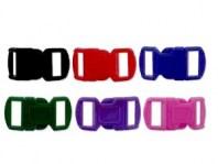 Набор пластиковых застежек для браслетов из различных шнуров: материал-пластик, размер: длина/ширина/толщина/отверстие-30х15х5.5 мм. отверстие 11х4 мм..