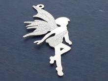 """Крупная подвеска серебряная серия """"Эльфы"""" на цепочку, шнурок для изготовления украшений Handmade."""