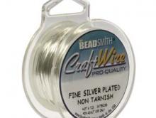 Проволока Craft Wire для рукоделия, используется для творческих работ Handmade, размер-0.4 мм. (26 ga), цвет-белое серебро