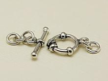 Замочек тогл ручной работы серебряный Материал -cеребро 925