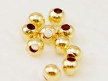 Бусина шарик с покрытием Gold Filled. Голд-филд- это износостойкое покрытие (до 10% золота методом накатки).