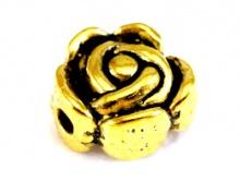Бусина цвет золото антик.