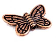 Бусина Бабочка цв. медь