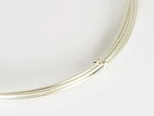 Серебряная средняя проволока, тонкая 0.65 мм. ювелирная для изготовления украшений Handmade.