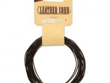 Шнур круглый кожаный 0.55 мм. в диаметре,