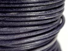 шнур кожаный 2 мм цвет сине-черный матовый, натуральный краситель