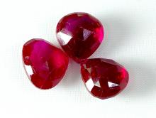 Шпинель бусина формы лепесток 9.5х9х5 мм. За 1 шт. цвет красно-малиновый