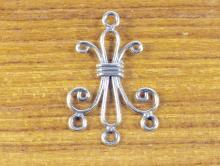 Подвеска-люстра серебряная 27х18 мм. чернёное серебро.