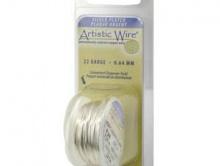 проволока для творческих работ Artistic Wire. Размер-0.51 мм. (24 ga). Цвет-белое серебро