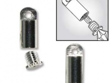 Концевик, цвет серебро натуральное