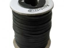 Мягкий кружевной замшевый  плоский шнур 2,4 мм, цвет чёрный, шнур отличного качества изготовлен из лучших оленьих шкур,