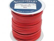 кожаный мягкий шнур ывелирного качества натуральный, 3 мм, цвет - красный