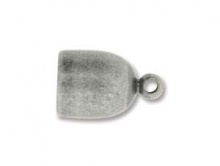 Концевик античное серебро
