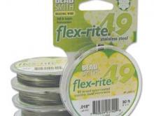 Ювелирный тросик Flex-rite 0.45 мм.  из 49 струн для создания украшений,