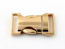BUCKLE Застежка-пряжка декоративная золотистая, размер: длина/ширина/толщина/отверстие-33/18/6/3 мм. Застежка изготовлена из металлического сплава